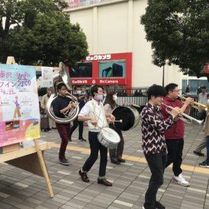 「藤沢ワイン祭り」初日のテイクアウトガーデンを開催!